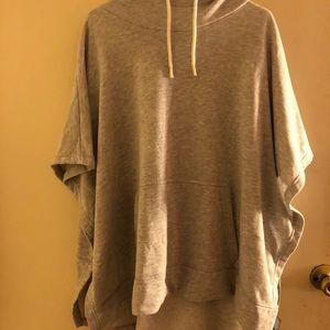 Grey no sleeve hoodie